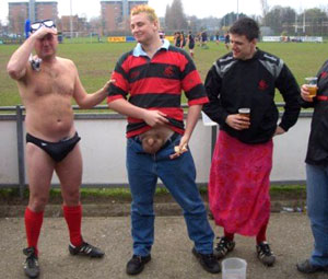 Massive balls of steel for these hardy English rugby lads made to take their kits off, anywhere and everywhere! - Gallery 1729