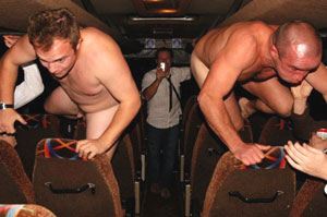 Cocks are scratched on rough upholstery in the latest sexy straight lad sport. Naked Coach Hurdles - Gallery 1733